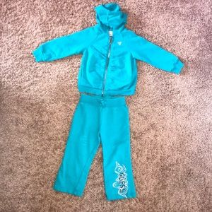 Teal Blue Guess Jogging Suit